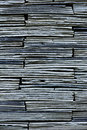 Stacked block wall abstract background Royalty Free Stock Photos