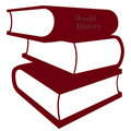 Stacked books illustration Royalty Free Stock Photo