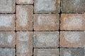 Stacked bricks colored in irregular pattern Stock Image