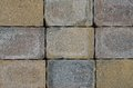 Stacked bricks colored in regular pattern Royalty Free Stock Photography