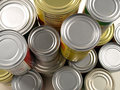 Stacked Cans of Food Stock Photography