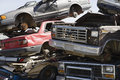 Stacked Cars In Junkyard Royalty Free Stock Image