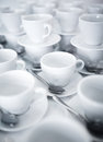 Stacked coffee and tea cups Royalty Free Stock Photo