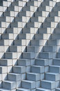 Stacked Concrete Blocks Stock Image