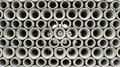 Stacked concrete pipes abstract Royalty Free Stock Photo