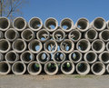 Stacked concrete pipes stacks of preformed Royalty Free Stock Image