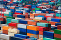 Stacked container Royalty Free Stock Photo