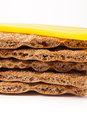 Stacked crackers Royalty Free Stock Photo