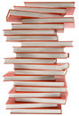 Stacked Encyclopedia w/ Path Royalty Free Stock Photography