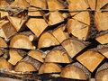 Stacked firewood Stock Images