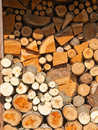 Stacked firewood Royalty Free Stock Images