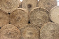 Stacked Hay Bales After the Harvest Royalty Free Stock Photo