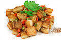 Stacked Home Fried Potatoes  Stock Image