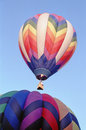 Stacked Hot Air Balloons Royalty Free Stock Photography