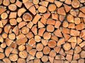 Stacked Logs Royalty Free Stock Image