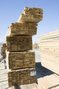 Stacked Lumber At Construction Site Royalty Free Stock Photos