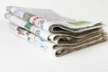 Stacked of Newspaper Royalty Free Stock Photo