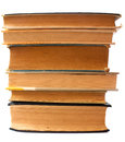 Stacked old books isolated on a white background Stock Photography