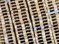 Stacked pallets symbol photo for freight transport and logistics Royalty Free Stock Images