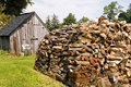 Stacked Pile of Firewood Royalty Free Stock Photo