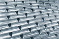 Stacked platinum bars Royalty Free Stock Images