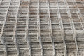 Stacked rebar grids Royalty Free Stock Photo