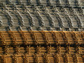 Stacked reinforcing rods Stock Images