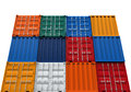 Stacked shipping container isolated on white background d render Royalty Free Stock Image