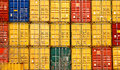 Stacked Shipping Container Royalty Free Stock Photo