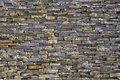 Stacked slate bricks wall texture Royalty Free Stock Photo