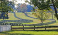 Stacked Split-Rail Fences in Appomattox, Virginia Stock Photography