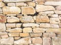 Stacked stone wall background horizontal. White stone tile texture brick wall background. Royalty Free Stock Photo