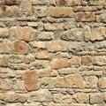 Stacked stone wall background horizontal. White stone tile texture brick wall. Royalty Free Stock Photo
