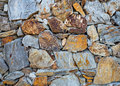 Stacked stone wall old background Royalty Free Stock Photography