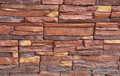 Stacked stone wall texture flat as background and Royalty Free Stock Photography