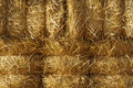 Stacked Straw Hay Bails Royalty Free Stock Photo