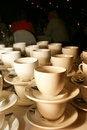 Stacked Teacups Stock Image
