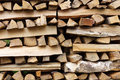Stacked wood Royalty Free Stock Photo