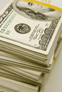 Stacks $100 Bills Royalty Free Stock Photo