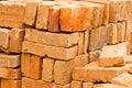 Stacks of Bricks Royalty Free Stock Photo