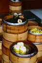 Stacks of chinese dim sum Royalty Free Stock Photo