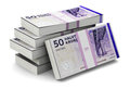 Stacks of danish krones creative abstract banking money making and business success financial concept heap krone banknotes on Royalty Free Stock Images