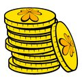 Stacks of gold coins icon, icon cartoon