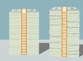 Stacks of Hundred Dollar Bills in Bundles Royalty Free Stock Photo