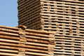 Stacks of Lumber Drying Stock Photography