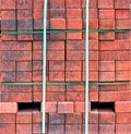 Stacks of red bricks Royalty Free Stock Photography