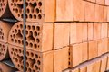 Stacks of silicate bricks with rounded edges Royalty Free Stock Image