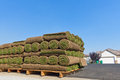 Stacks of sod Royalty Free Stock Photos