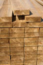 Stacks of wood planks in lumber yard stack textures Stock Image