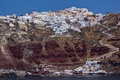 Stad av oia santorini tira island cyclades Arkivfoto